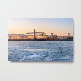 Exchange Building on the Embankment of St. Petersburg Metal Print
