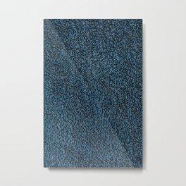 Towel frottee blue Metal Print