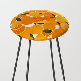 mediterranean oranges still life  Counter Stool