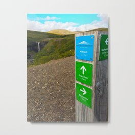 Hiking to Svartifoss Waterfall in Vatnajökull National Park, Iceland Metal Print