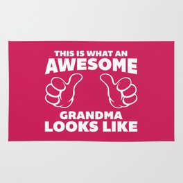 Awesome Grandma Looks Like Quote Rug