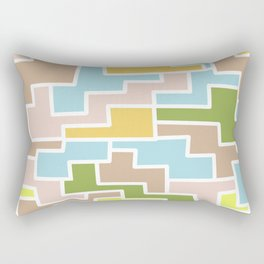 Modern pink pastel color geometrical abstract  shapes Rectangular Pillow