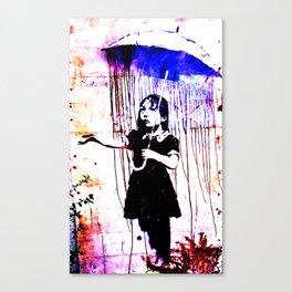 Banksy, Nola, Girl with umbrella, Banksy poster, color Canvas Print