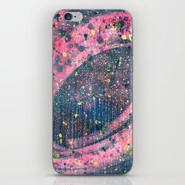 Pink space iPhone Skin