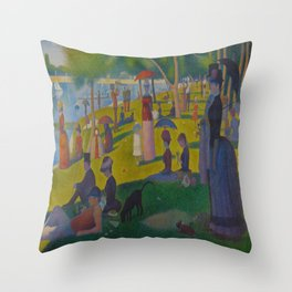 A Sunday Afternoon on the Island of La Grande Jatte Painting by Georges Seurat Pointillism Throw Pillow
