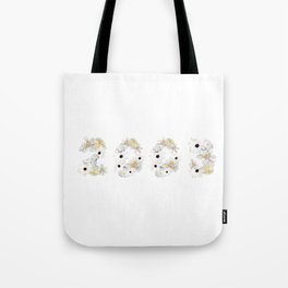 White Flower 2003 Tote Bag