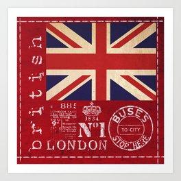 Union Jack Great Britain Flag Art Print
