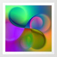 vortex triptych Art Print