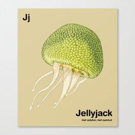 Jj - Jellyjack // Half Jellyfish, Half Jackfruit Canvas Print