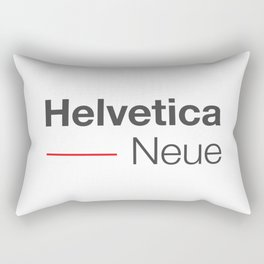 Helvetica Neue red & grey Rectangular Pillow