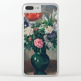 Camille Pissarro - Bouquet Of Flowers Clear iPhone Case