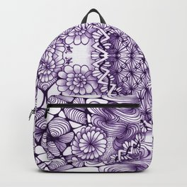 Grape Wash Zentangle Tile Doodle Design Backpack