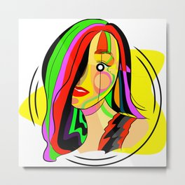 Hypnotic girl Metal Print