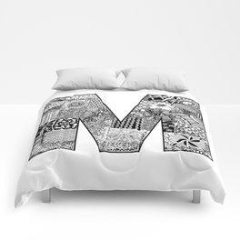 Cutout Letter M Comforters