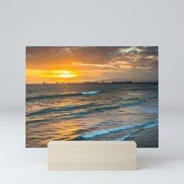 Sunset over the Pacific Mini Art Print