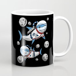 Shark Space Astronaut Galaxy Coffee Mug