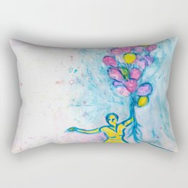 Faded Memory of a Beauty with Balloons Rectangular Pillow
