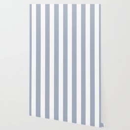 Cadet blue (Crayola) - solid color - white vertical lines pattern Wallpaper