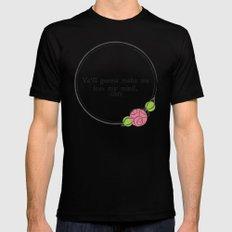 Floral - Lose My Mind Mens Fitted Tee MEDIUM Black