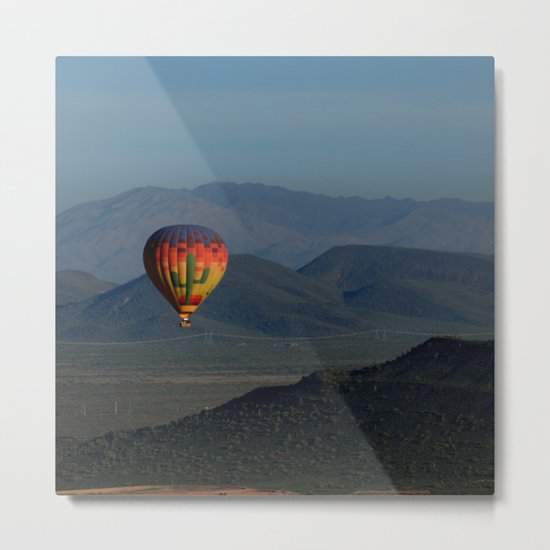 Hot Air Balloon over Arizona Morning Metal Print