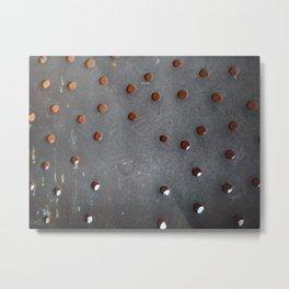 Antique skimmer holes Metal Print