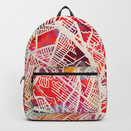 Hackensack map New Jersey NJ 2 Backpack