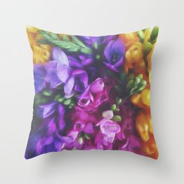Freesias Throw Pillow