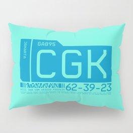 Baggage Tag C - CGK Jakarta Indonesia Pillow Sham