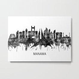 Manama Bahrain Skyline BW Metal Print