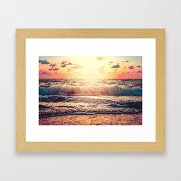 Florida Sunset Framed Art Print