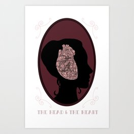 The Head and the Heart Art Print