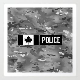 Canadian Police: Urban Camouflage Art Print
