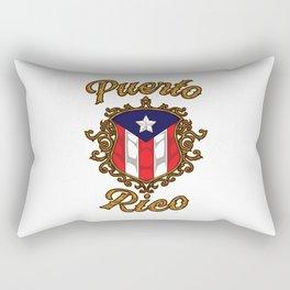 Puerto Rico Emblem - Puerto Rican Pride Flag Rectangular Pillow