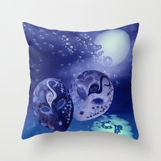 illusions in the night Throw Pillow