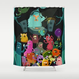 The mezcal monsters Shower Curtain