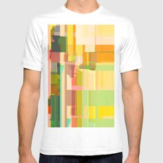 Abstract Painting No. 14 MEDIUM White Mens Fitted Tee
