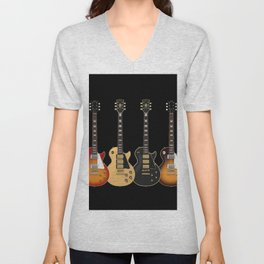 Four Electric Guitars Unisex V-Neck