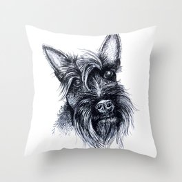 Terriers Rock Throw Pillow