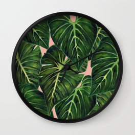 Tropical II Coral Wall Clock