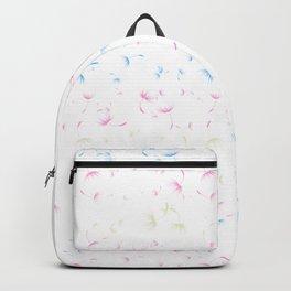 Dandelion Seeds Transgender Pride (white background) Backpack