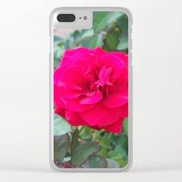 Floral Print 107 Clear iPhone Case