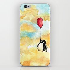 Penguin and a Red Balloon iPhone & iPod Skin