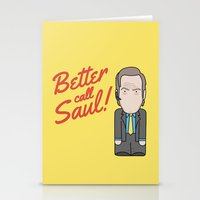 better call saul Stationery Cards featuring Better Call Saul by Big Purple Glasses