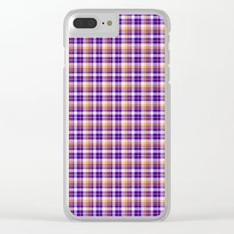 small sweet all over plaid Clear iPhone Case