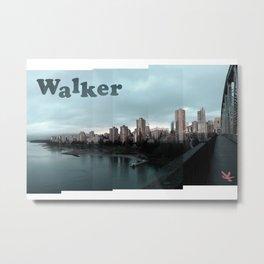 Burrard Bridge Walker - Pair (right) Metal Print