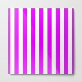 Orlando Orchid Pink Vertical Tent Stripes Florida Colors of the Sunshine State Metal Print