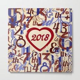 Heart 2018 He - Notebooks & more Metal Print