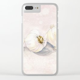 Garlic Watercolor Clear iPhone Case