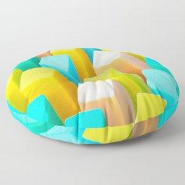 Color Blocking Pastels Floor Pillow
