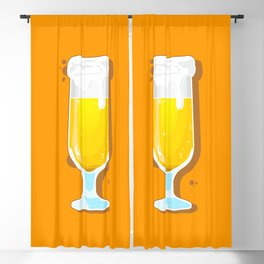 Fresh Beer Glass Blackout Curtain